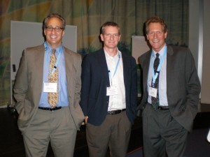 Jim McHale (center) with Jonathan Kaledin and Brian Richter from the