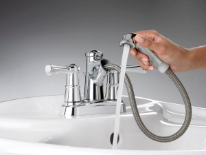 The OutReach pull-out bathroom faucet