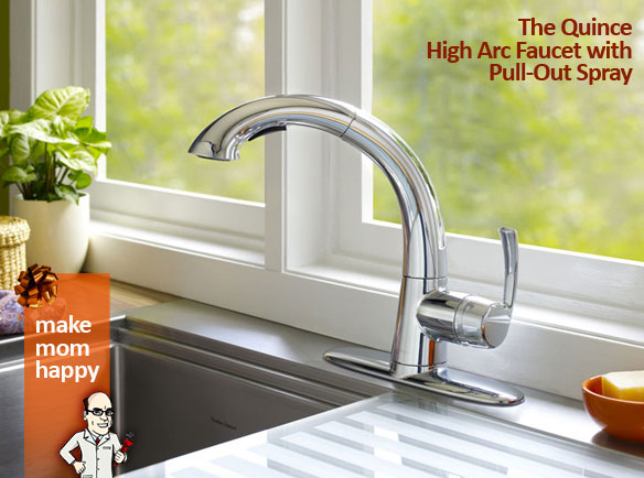 The Quince High Arc Faucet with Pull-Out Spray