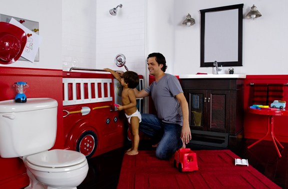 FireTruck Fun Bath for toddlers by American Standard.