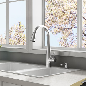 Lillian Pull- Down Kitchen Faucet ASB